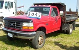 1996 Ford F350 Diesel, 9ft Contractors Box