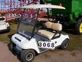 03 Club Car Electric Golf Car White, W/top