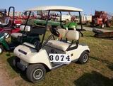 02 Club Car Electric Golf Car, Biege, Top, Charger