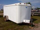 96 Cargo Trailer, 12ft, White Aajx204