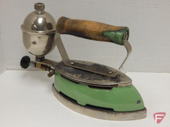 "Coleman gas iron; Model No. 5; 7 1/2""; about 1930"