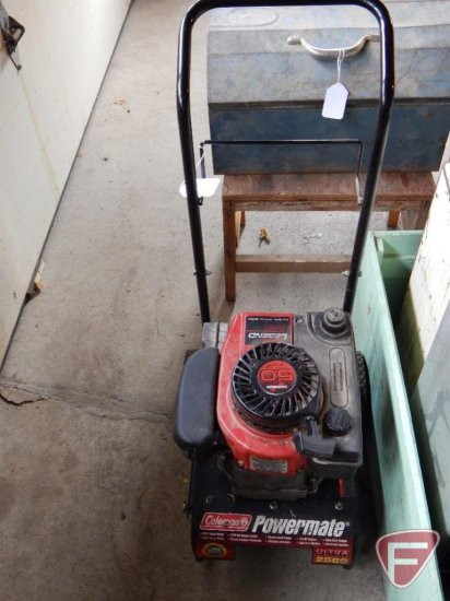 Coleman Powermate 2500 watt generator with Tecumseh 5 0 Hp