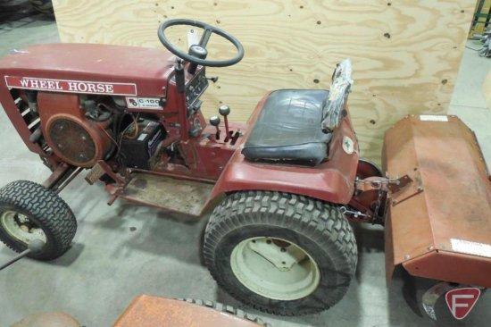 Wheel Horse C 100 8 Sd Model 1 0390 9 Ser 47252 Manual Transmission With Tiller