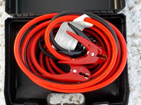 25' 800 AMP Extra Heavy Duty Booster Cables Serial: 4760-19
