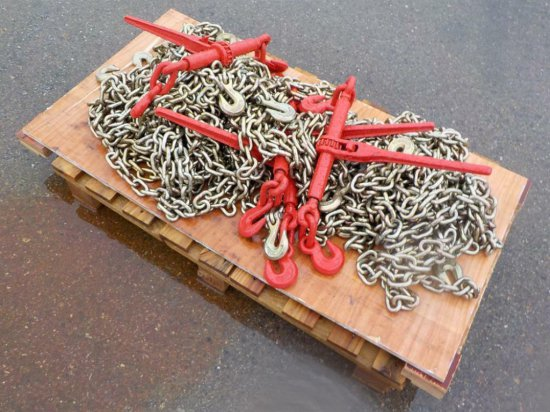 Ratchet Binder (5 of) c/w Chains (10 of) Serial: 6452-49