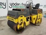 1995 Bomag BW100AD-3 Double Drum Vibrating Roller c/w Open Operator Station