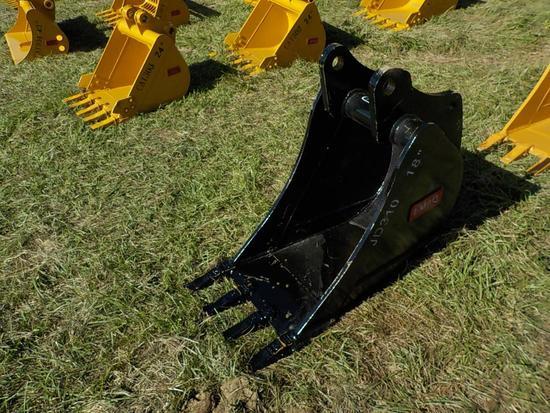 "Teran  Bucket to suit John Deere JD310J/K 18"" (0.14 M³) - 4HD Tips"