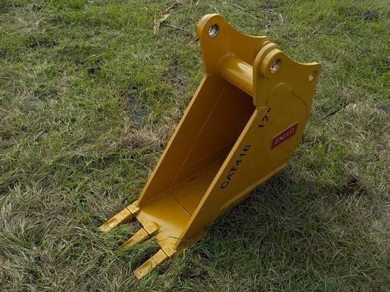 """Teran  Bucket to suiit CAT 416 12"""" (0.09 M³) - 3HD Tips"""