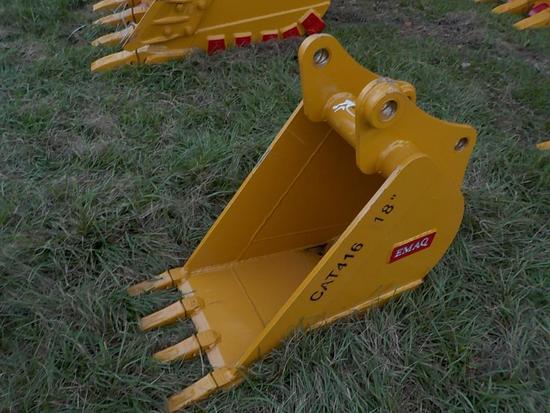 """Teran  Bucket to suit CAT 416 18"""" (0.14 M³) - 4HD Tips"""