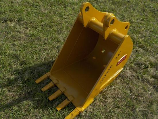 """Teran  Bucket to suit CAT 416 24"""" (0.21 M³) - 5HD Tips"""