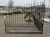 16' Wrought Iron Gate c/w Posts, Powder Coated