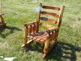 Amish Built, Red Cedar Log Rocker