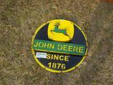 Metal John Deere Ring Wall Hanging