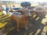 Life Size Metal Longhorn BBQ Grill