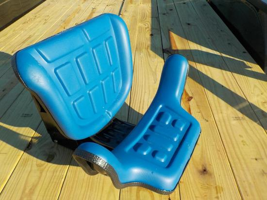 Deluxe Blue Ford Style Tractor Seat