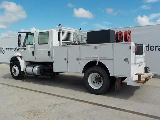 2013 International 4300 Crew Cab Service Truck Allison Auto Trans (134,701