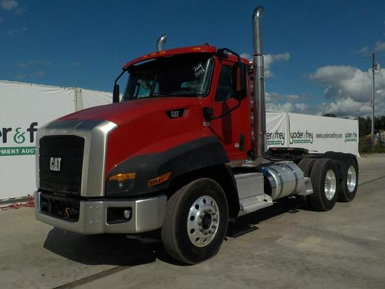 2014 CAT CT660S Day Cab Tandem Axle Road Tractor, Caterpillar Engine, Eaton