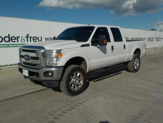 2016 Ford F250XLT Pickup Truck, 4WD, Gas, Crew Cab c/w A/C (120,909 Miles)