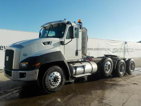 2013 CAT CT660L Day Cab, Tri Axle Truck Tractor, Cat CT15 Engine, 500hp, Ea