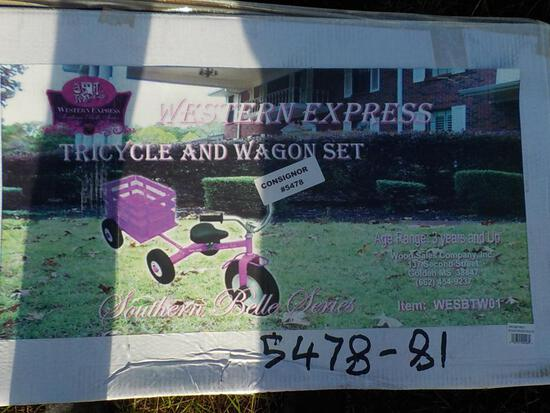 Pink Tricyle/Wagon Combo