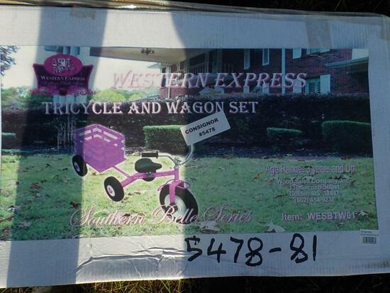 Pink Tricycle /Wagon Combo