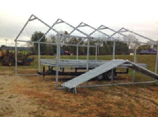 """26' x 24' x 8' Steel Building Frame, 14 gage 2"""" x 3"""" Square Frame"""