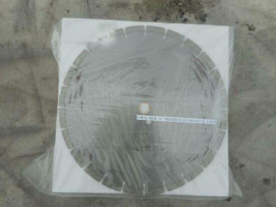 "14"" Premium Diamond Blades, 3 Pieces"