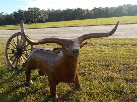 Long Horn BBQ Metal Grill