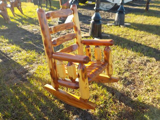 Red Cedar Log Rocker
