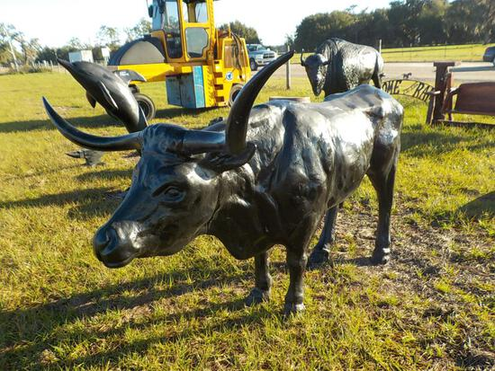 Aluminum Longhorn Steer