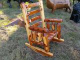 Red Cedar Log Rocker