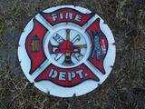 Metal Fireman Sign
