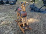 Teak Rocking Horse