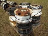 Pallet of Truck Wheels (8 of)