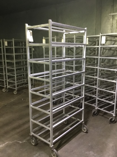 8 shelve wheeled meat rack