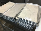 ONE LOT LARGE ALUM. MEAT TRAYS
