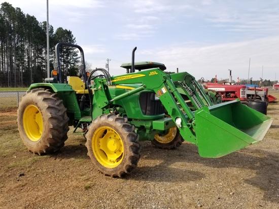 2013 John Deere 5075 E Tractor w/ 553 Loader