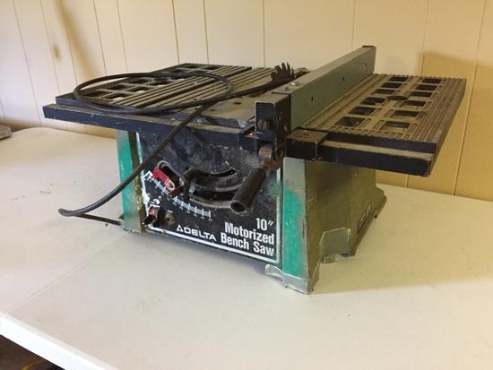 "Delta 10"" Motorized Bench Saw"