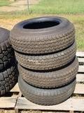 Four ST205-75D14 Trailer Tires