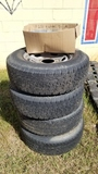 Ford F250 Used Tires & Rims w/ Caps As Is