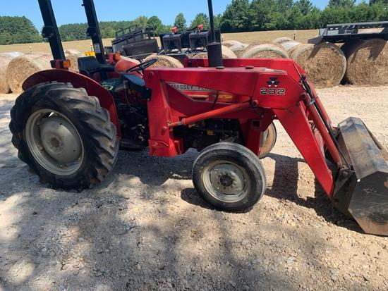 Massey Ferguson 240 Tractor w/  232 Loader