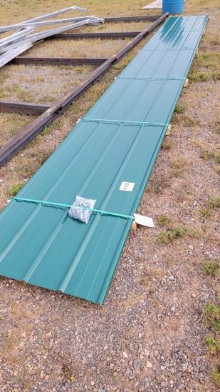 "Metal Roofing 8 @ 24'6"" Ivy Green 29 GA."