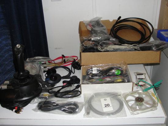 joystick and asst. audio visual cables