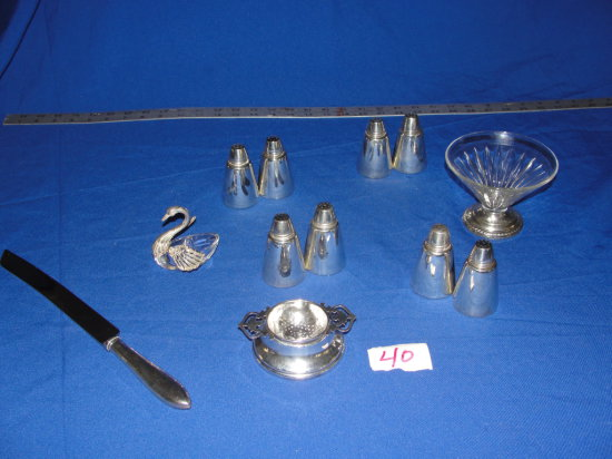 12 piece sterling silver table pieces