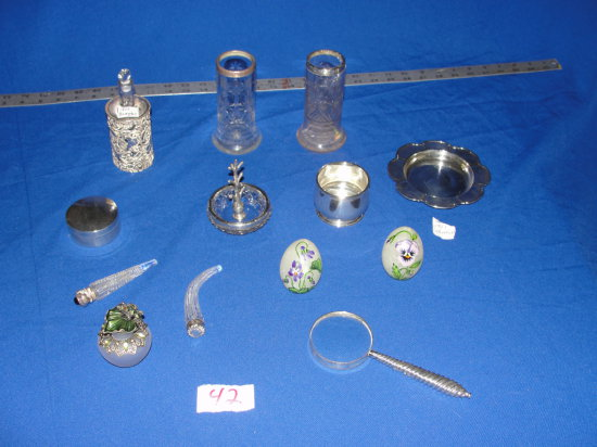 13 piece sterling silver bureau pieces