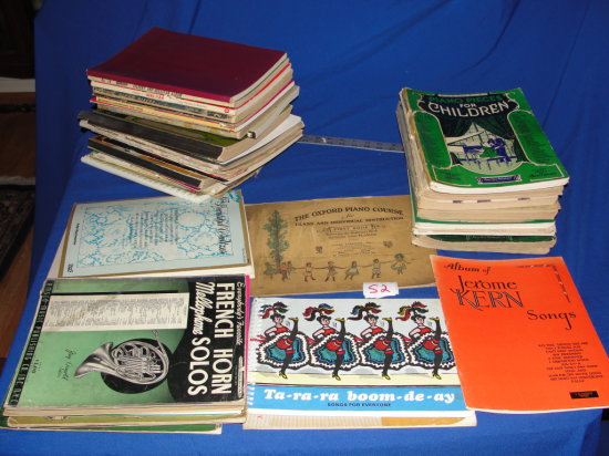 Soft Cover Music for Piano, Voice, Guitar (large lot)