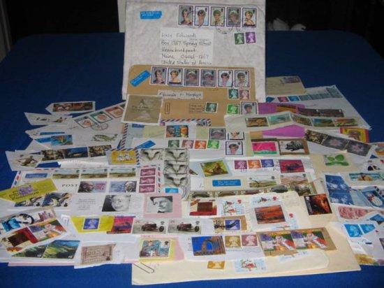 United Kingdom Franked Stamps Loose and Envelopes