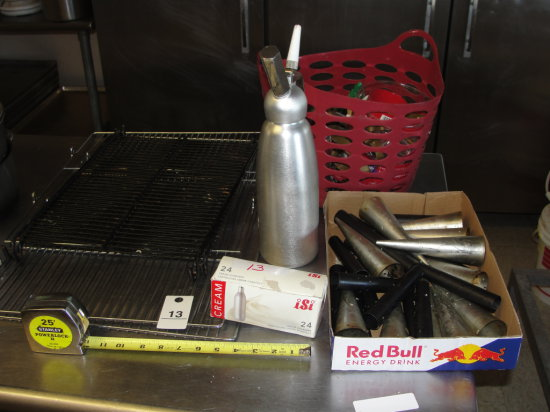 Cooling Racks - whip cream dispenser - gas refills - pastry nozzles - cookie cutters