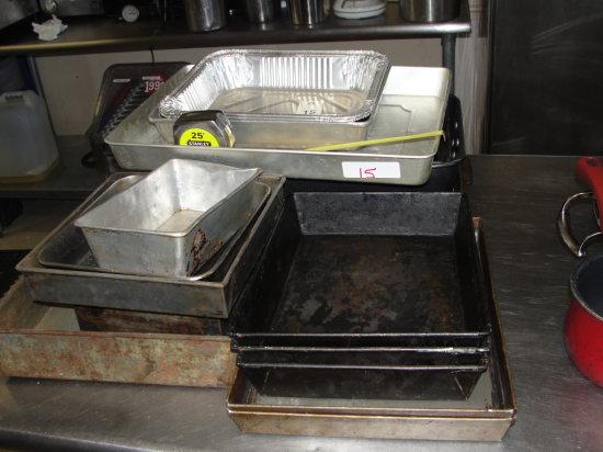 Asst Cake pans aprox 16