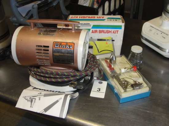 Binks Spray System with Air Brush tips and templates